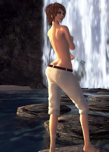 Retro swing Pants (white)