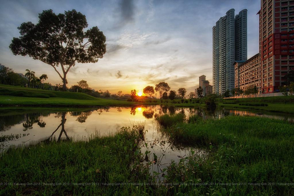 Sunrise in Bishan Park