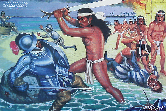 """Battle of Mactan"" Painting by Manuel Pañares in Fort San Pedro Cebu City"