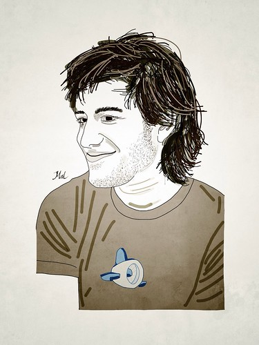 Aaron Swartz, drawn by me by Mal Booth