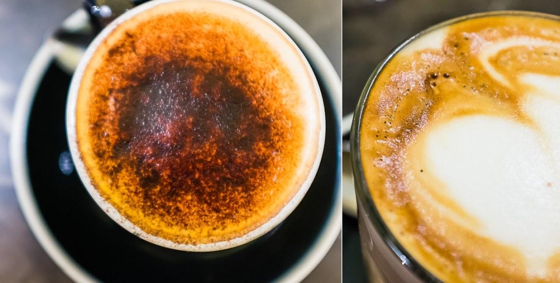 Parlour lane roasters latte and flat white sydney cafe