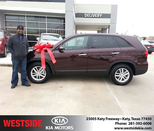 Thank you to Kevin Givens on your new 2014 #Kia #Sorento from William Hadnott and everyone at Westside Kia! #NewCarSmell by Westside KIA