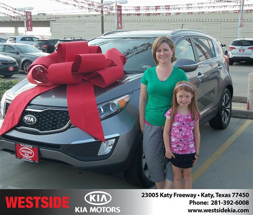 Thank you to Michelle Groh on the 2013 Kia Sportage from Gilbert Guzman and everyone at Westside Kia! by Westside KIA