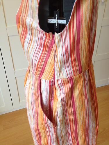 orange stripe Heidi side zip