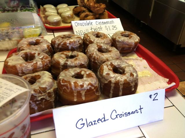 Glazed Croissant sign