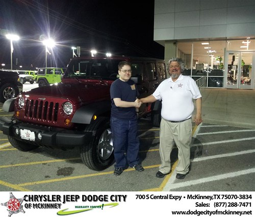 #HappyAnniversary to Brad Miller on your 2013 #Jeep #Wrangler from Brent Villarreal  at Dodge City of McKinney! by Dodge City McKinney Texas