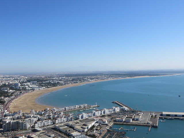 Agadir port, Agadir beach, view from old kasbah hill, hike in agadir, things to do in agadir