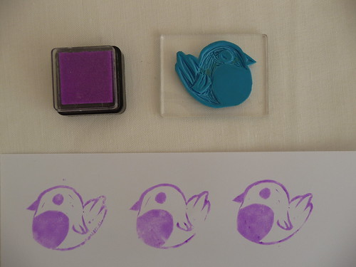 Handmade Robin Lino Stamp