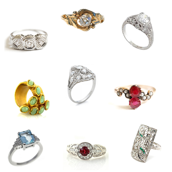 antique and ornate rings