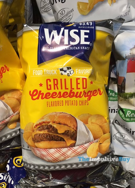Wise Food Truck Favorites Grilled Cheeseburger Potato Chips