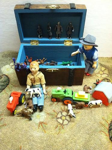 The boys found some of their toys