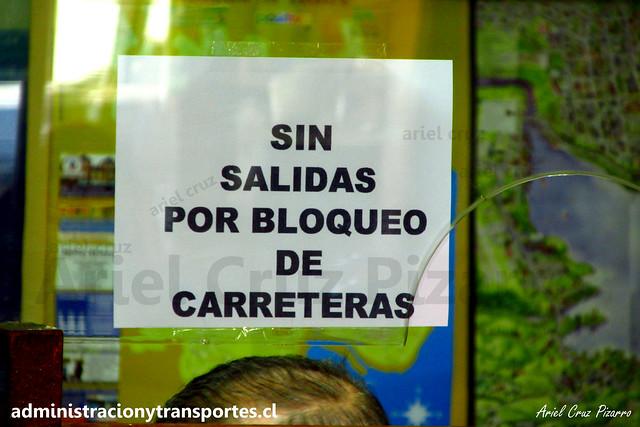 Crisis Chiloé: Sin salidas en Terminal