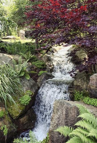 Waterfall (one of ten), Schnormeier Gardens