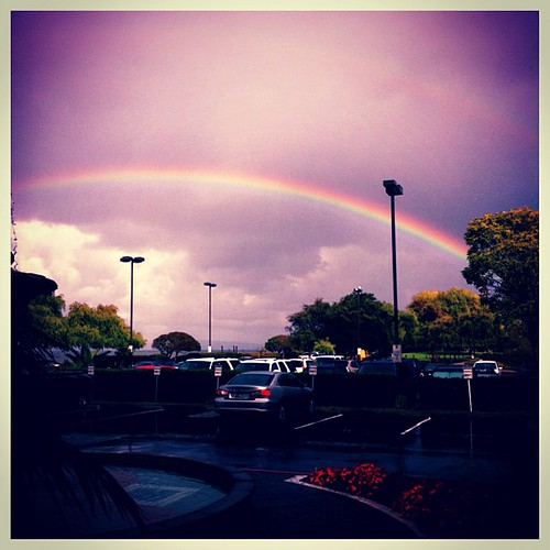 Remembering Steve Jobs - was near #apple when the news broke & this is the #rainbow at that moment by @MySoDotCom