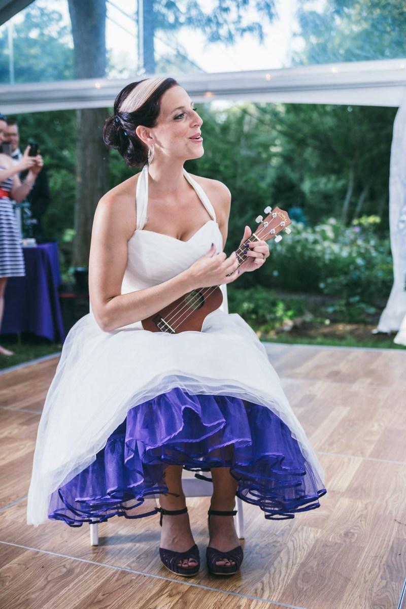Julie playing ukulele