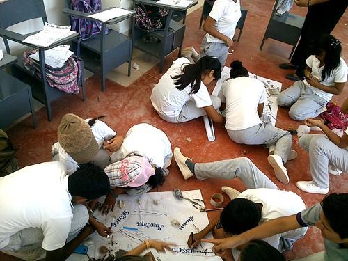 composición de mapas colectivos en en aula