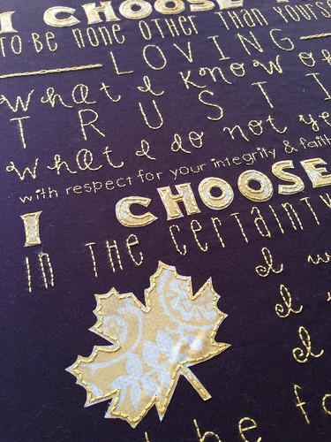 Custom wedding vows