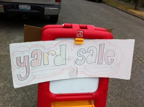 Rainbow sale sign