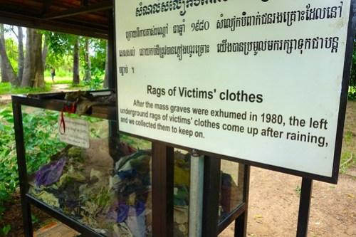 Rags of victims clothes