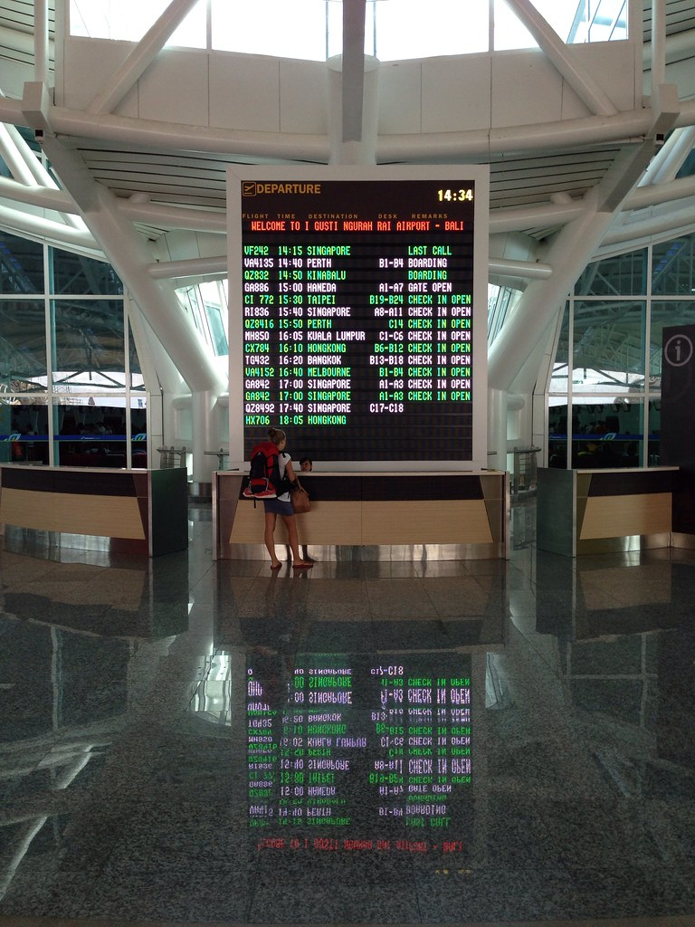 Departure Information at Ngurah Rai