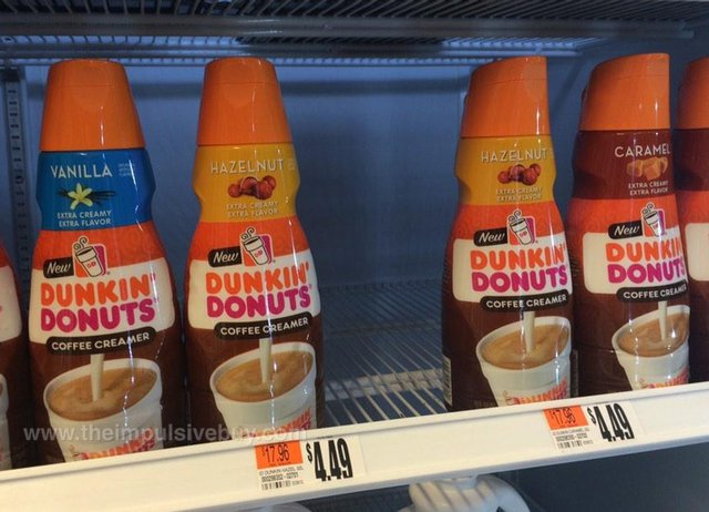 Dunkin' Donuts Coffee Creamer (Vanilla, Hazelnut, and Caramel)
