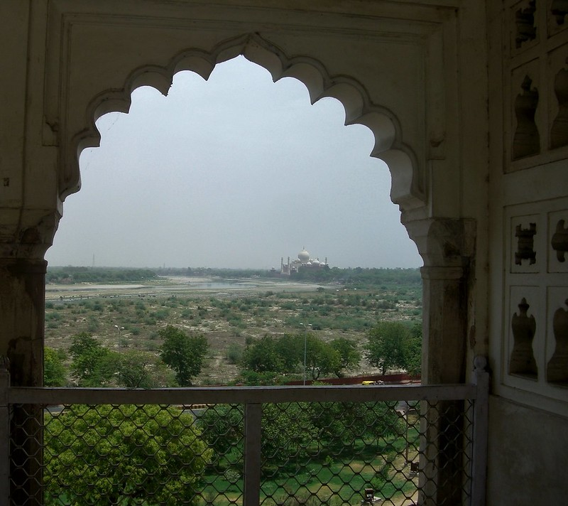 India View of Taj Mahal from Red Fort