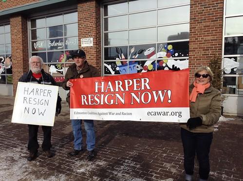 ECAWAR Stop Harper Picket - Feb. 15, 2014