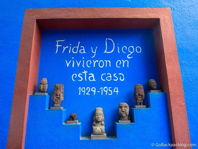 Frida lived in Casa Azul her entire life, including her 25 years of marriage with Diego Rivera