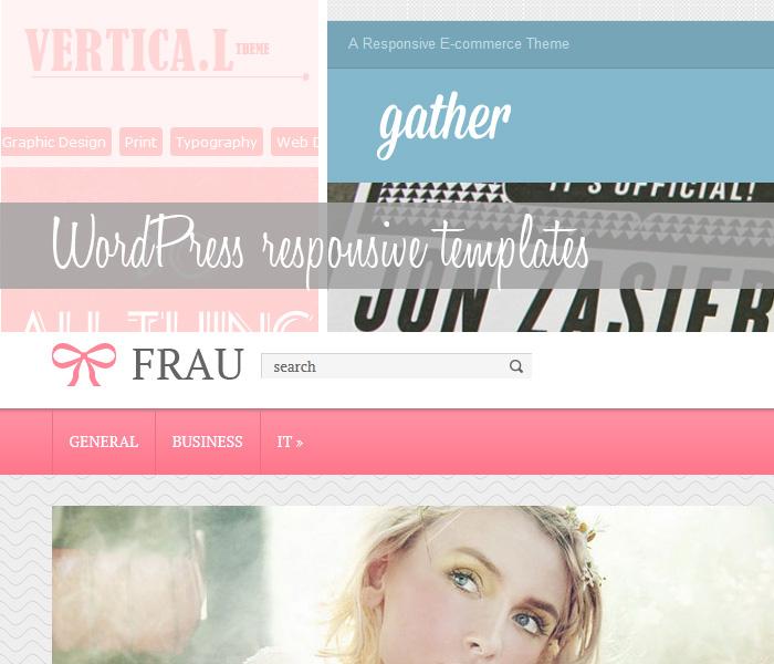 Responsive WordPress themes, templates