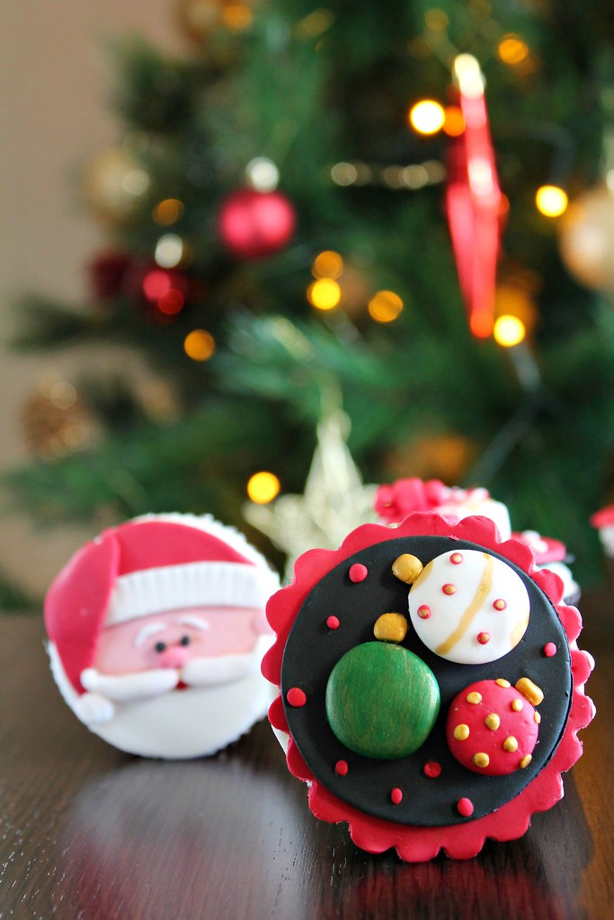 Navidad cupcakes