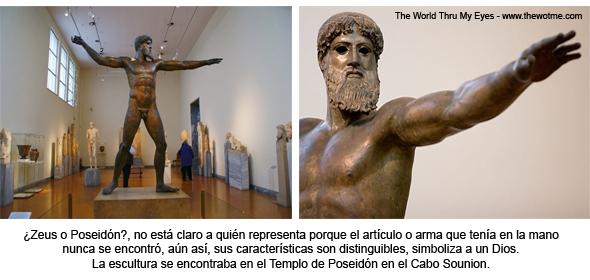 Estatua de Poseidón en el museo arqueológico de Atenas. Cabo Sounion Cabo Sounion y el Templo de Poseidón 12272923504 44a7e74190 o