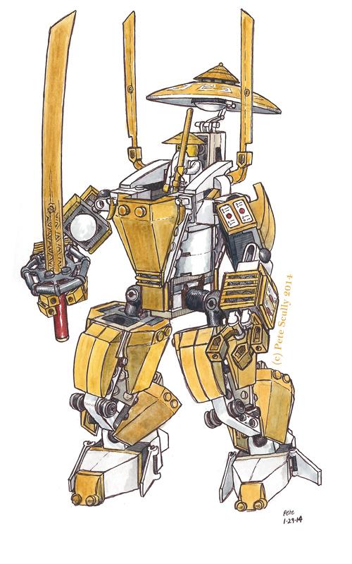ninjago gold mech