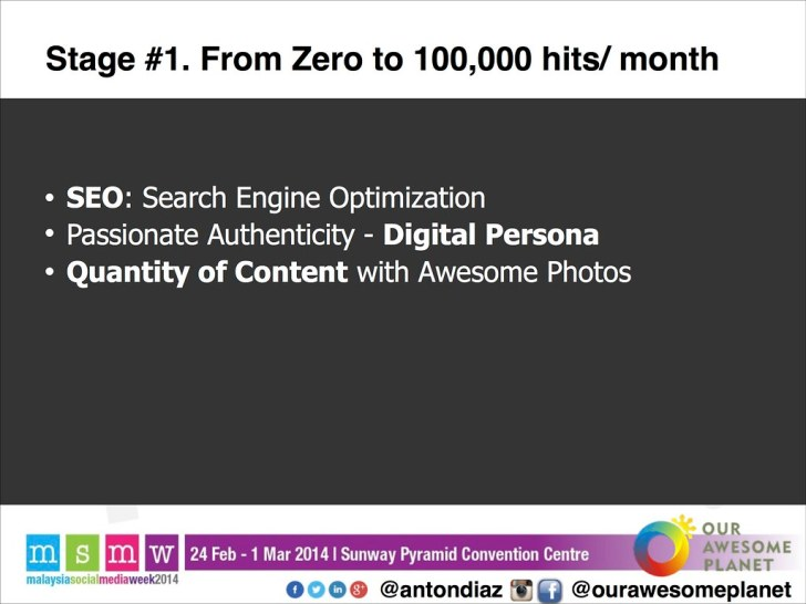 The Road to 1,000,000 Pageviews - The OAP Story MSMW2014 -15