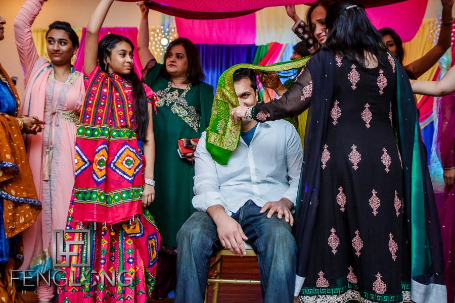 Ismaili Indian groom's Pithi ceremony