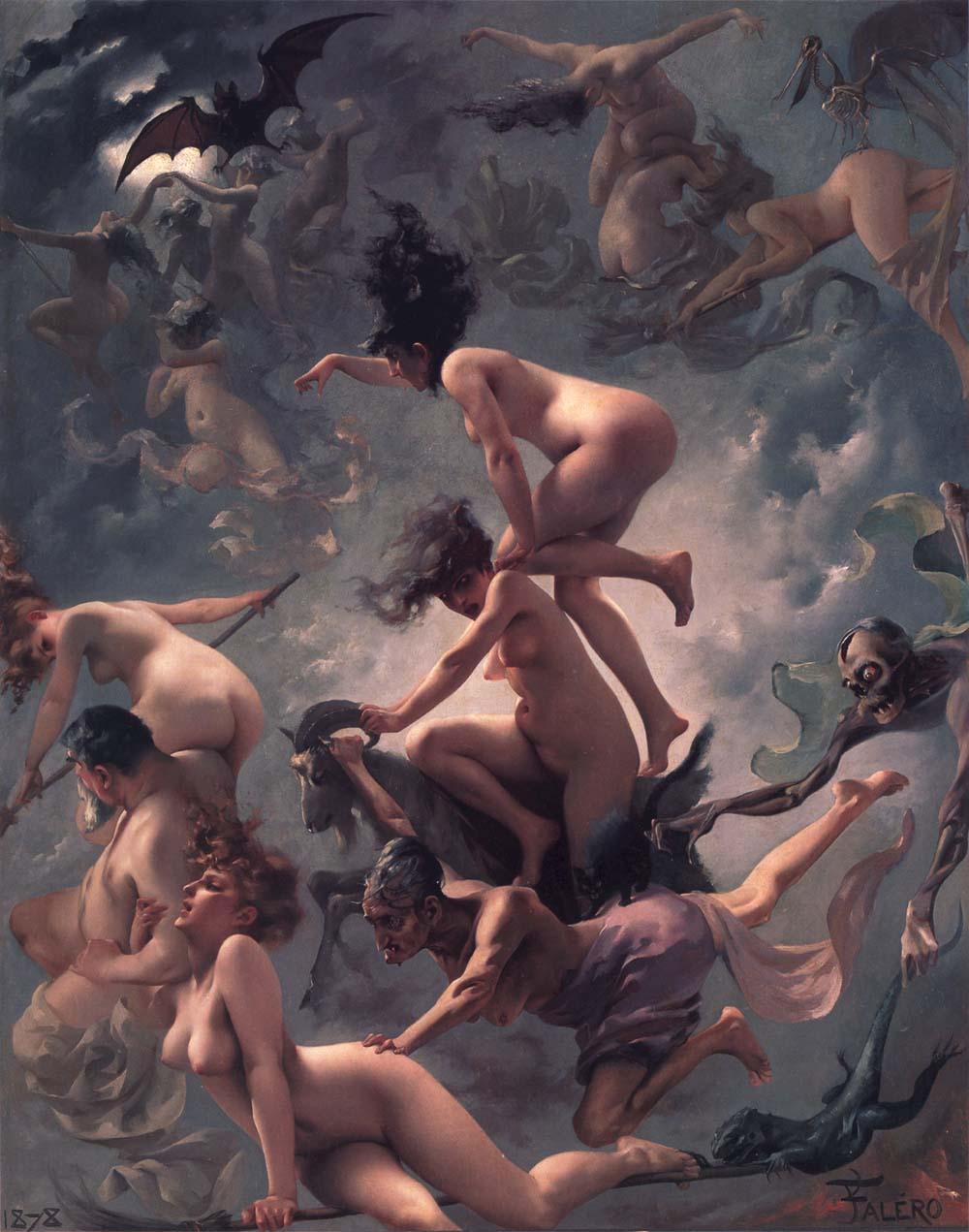 Luis Ricardo Falero, La Vision de Faust, 1878