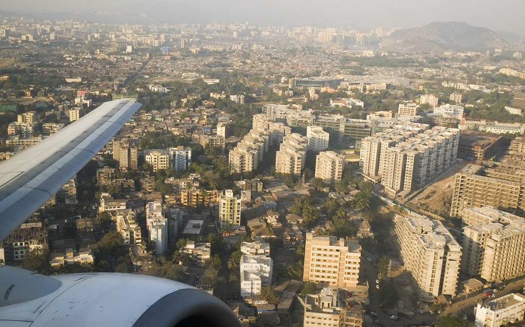 Aerial Views of the suburbs of Mumbai
