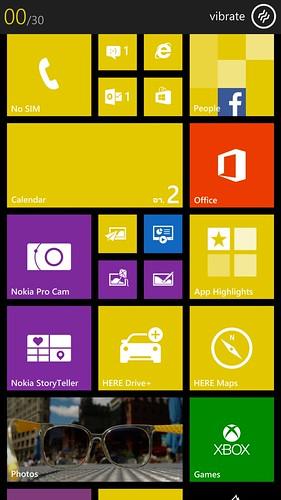 User Interface ของ Windows Phone 8 บน Nokia Lumia 1520