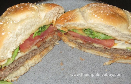 McDonald's Bacon Habanero Ranch Quarter Pounder Innards