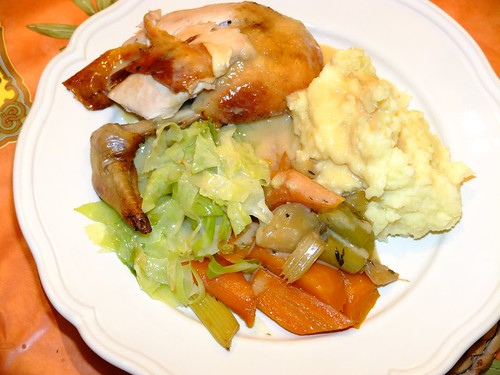 Pot-roasted chicken with a cream and cider sauce by La belle dame sans souci