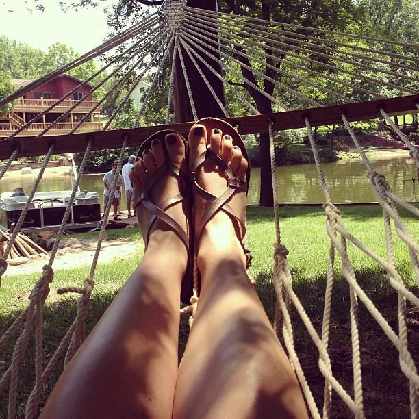 Earlier, in the hammock.