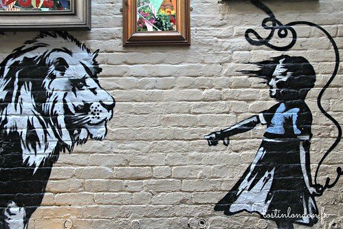 Banksy bbq at The Princess of Wales