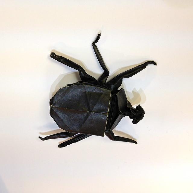 Kawasaki beetle origami