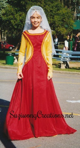 Chloe in Medieval costume - Year 8 Melbourne Girl's College