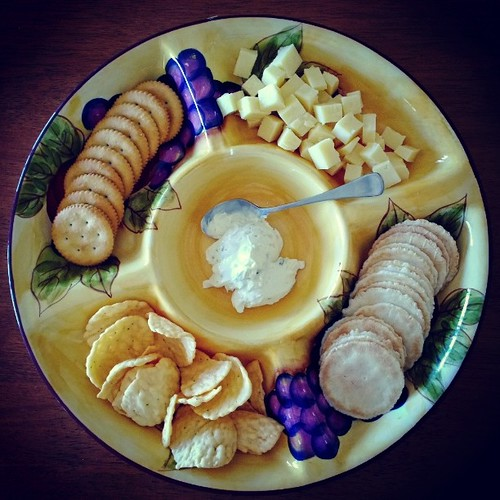 More food on offer at our afternoon tea party: Cheese and Crackers Platter.