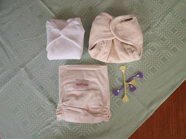 Cloth diapering.