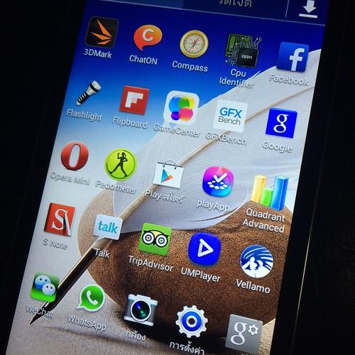 สังเกตดีๆ จะเห็น App หลายตัวที่มีใน Samsung Galaxy Note 3 บนนี้ด้วย