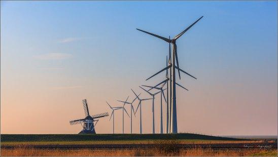 Molen Goliath en de 9 windenergie reuzen, Eemshaven