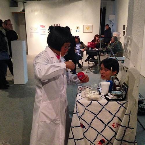 Artist-in-ResidentYi-Zhou-Dr.Zhou-presents-her-work-Body-Memory-in-the-Flux-Factory-Gallery-within-t