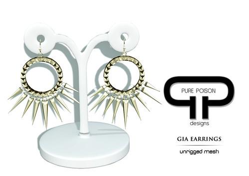 Pure Poison - Gia Earrings