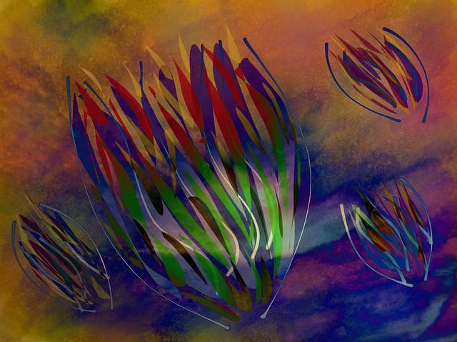 Flowing Flower Buds